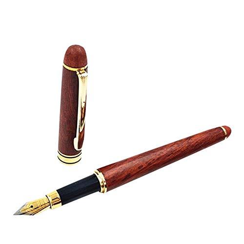MOPOIN Penna stilografica, set completo di penne stilografiche in legno con astuccio regalo Penne vintage Miglior set regalo per Natale, San Valentino e anniversario per uomo, ricarica inchiostro