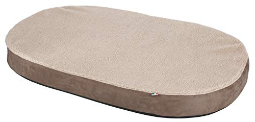 Kerbl 80333 Memory-Foam Matratze oval, 100 x 65 x 8 cm, grau/beige