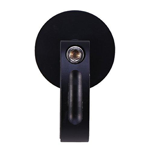 Reloj de motocicleta, Universal 7/8'-1' Impermeable Reloj de montaje en manillar de motocicleta Reloj brillante Nuevo negro