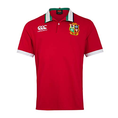 Canterbury British and Irish Lions Rugby-Trikot für Herren, kurzärmelig XXL Rot - Tango Red