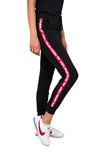 ALPHA INDUSTRIES Damen Jogginghose RBF Tape, Größe:M, Farbe:Black