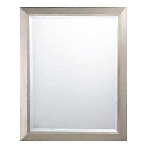 """Kichler Lighting Nickel 41011NI Rectangular Wall Mirror Brushed, 24"""" W x 30"""" H"""