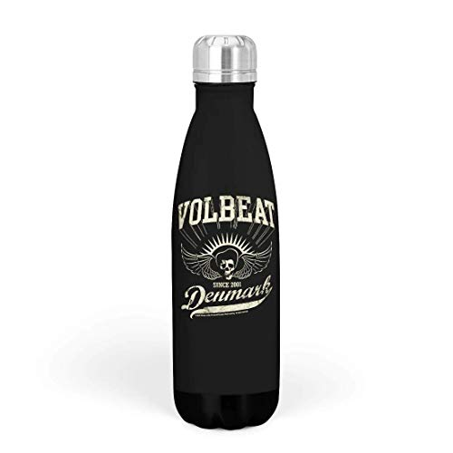 Volbeat Denmark Unisex Thermosflasche Standard Edelstahl 0,5 l Band-Merch, Bands, Musik