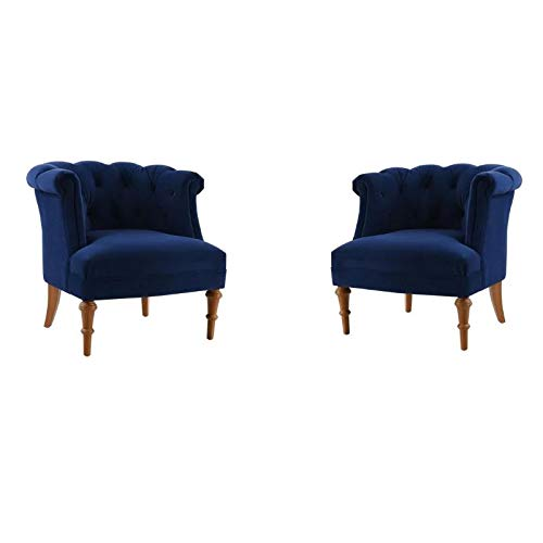 blue velvet accent chairs for sale