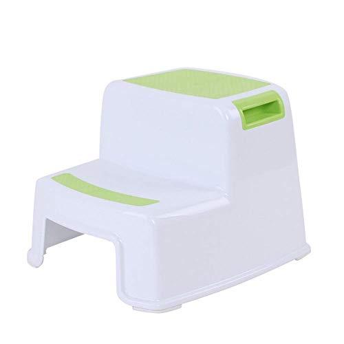 Guajave 2 Tritthocker Kleinkind Kinder Stuhl Toilette Töpfchen Training rutschfest für Badezimmer Küche - Grün