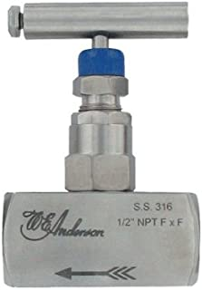 HNV-SSS31B Dwyer 1//8 Needle Valve Pressures up to 6000 psi Female x Female