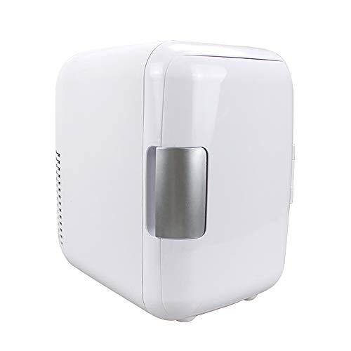 XXF Mini Nevera, Aire Libre Portátil Termoeléctrica Mini Refrigerador del Refrigerador Y Calentador 4 litros con AC Excelente/DC para El Coche/Viajes/Dormitorio/Camping Y Dormitorio