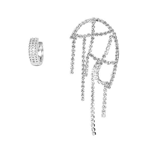 Pendientes de niña simples para madre y niño pendientes de garra cadena borla pendientes pendientes de clip para mujer