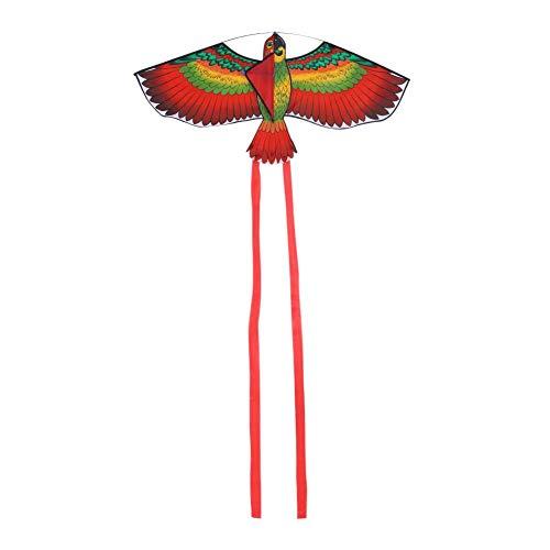 Papagaio voador, papagaio infantil, papagaios animais papagaios voadores papagaio de pássaros para crianças voando ao ar livre(red)