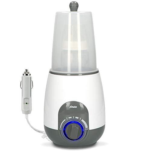 Alecto BW-512CAR+ Babykost-, Flaschchenwärmer und Sterilisator für unterwegs und zu Hause, mit Warmhaltefunktion, Trockenschutz und 12V KFZ-Adapterkabel