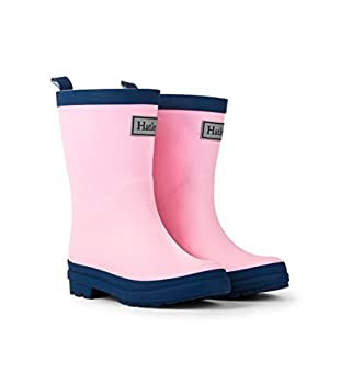 Hatley unisex child Classic Boots Raincoat Pink & Navy 7 Toddler US