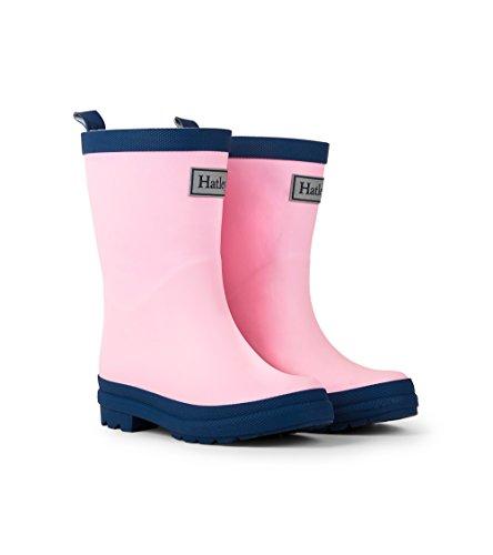 Hatley Mädchen Classic Rain Boots Arbeits-Gummistiefel, Pink (Pink/Navy), 24 EU (8 US)