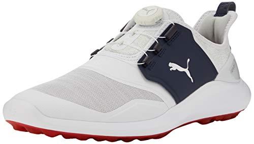 Puma Herren Ignite Nxt Disc Golfschuhe, Weiß White Silver-Peacoat 08, 42 EU
