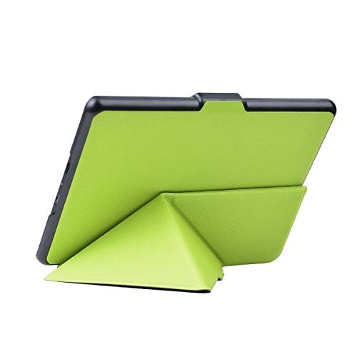 QiuKui Tab Cover For Kindle 8th Generation 2016 Ereader Origami Leather Cover Auto Sleep and Wake up Protective Shell Case for Kindle 8 (Color : Green)