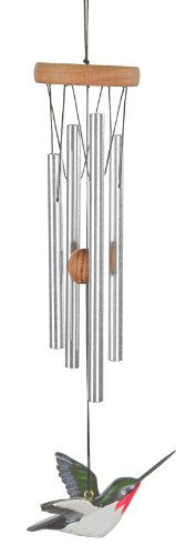 Woodstock Chimes Hummer Wind Chime, 15 in, Hand-Painted, Beautiful Chimes