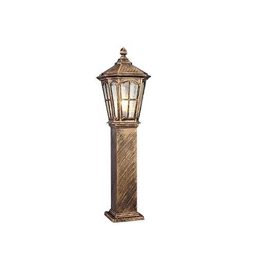 QULONG Iluminación de Paisaje al Aire Libre Linterna de Poste de Pilar de jardín Retro Lámpara de pie de Columna de césped a Prueba de Lluvia Externa Tradicional E26 / E27 Carcasa de Aluminio fundi