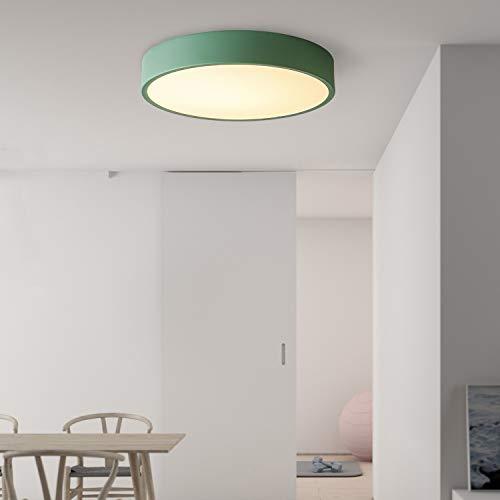 """Avior Home 36W LED Deckenlampe Deckenleuchte""""Pastell"""" Tageslicht, Grün Ø50 cm für Wohnzimmer, Schlafzimmer, Küche"""