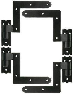 """Delaney Exterior Shutter Blind Hinges Sold in sets (pair of two) with 2 Material options and 3 siding options, available with or with out S"""" HOOKS"""