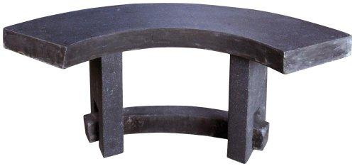 Esschert Design Sitzbank, Gartenbank Granito, EIN Element, feuerfest, halbrund, ca. 113 cm x 46 cm x 46 cm