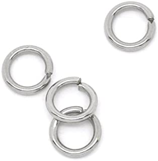 VALYRIA 500pcs Siver Tone Stainless Steel Open Jump Rings Connectors 0.8mm Fit Jewelry DIY (5x0.8mm)
