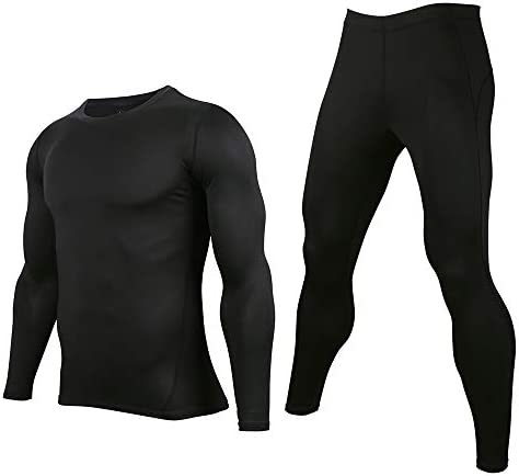 AXBXCX Thermal Underwear Quick Drying Set Men s Gym Compression Set Sweat Clothes Base Layers product image