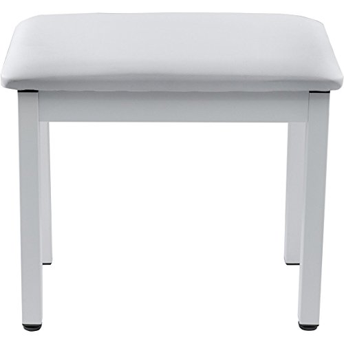 Knox Gear Full-Size 19-Inch Piano Bench (White)