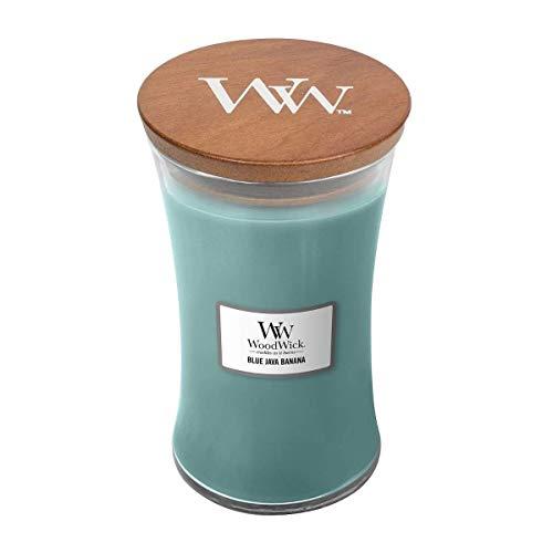 WoodWick Blue Java Banana 22 oz Large Hourglass Jar Candle