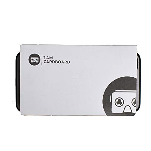 I Am Cardboard VR Box | The Best Google Cardboard Virtual Reality Viewer for iPhone and Android | Google Cardboard v2 Headset Inspired | Small and Unique Travel Gift Under 20 Dollars (White)