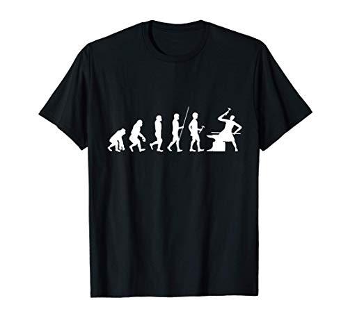 Hufschmied werkzeug Geschenk Evoultion Hufschmiede T-Shirt