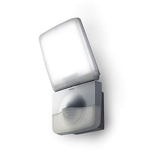 Theben 1020942 theLeda P12 AL LED-Strahler mit Bewegungsmelder für den Außenbereich, Wandleuchte, Flutlicht, Außenleuchte, indirekte Beleuchtung möglich