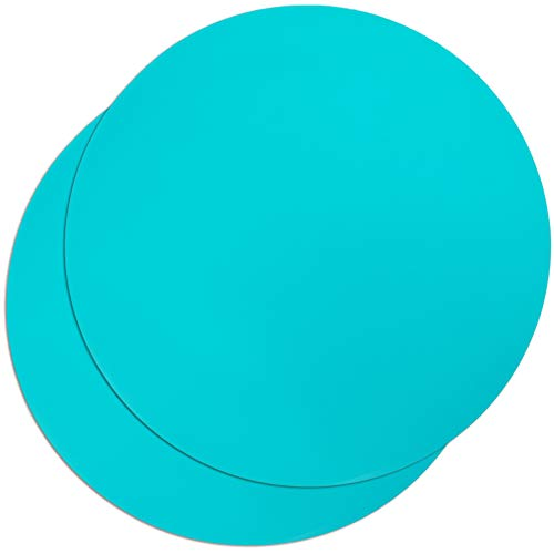 Round Silicone Microwave Mat (Teal, 11.8 Inches, 2 Pack)
