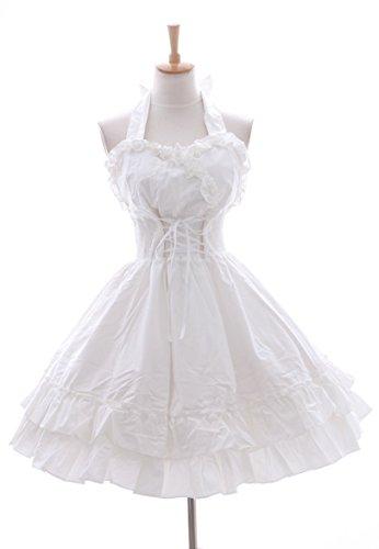 Kawaii-Story JL-24 weiß Stretch Vintage Retro Gothic Lolita Neckholder Kleid Dress Cosplay