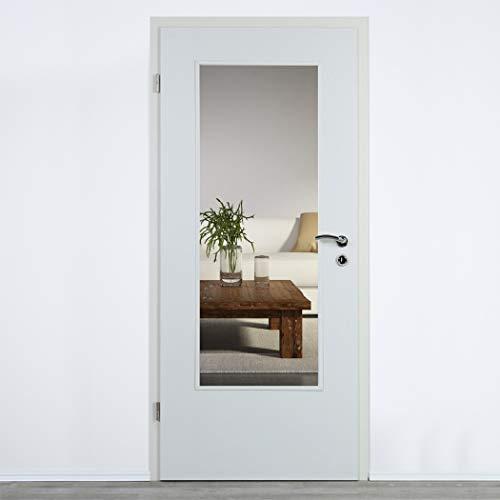 Lichtausschnitt Verglasung für Zimmertüren Glas 4mm ESG (410 x 1420 mm)