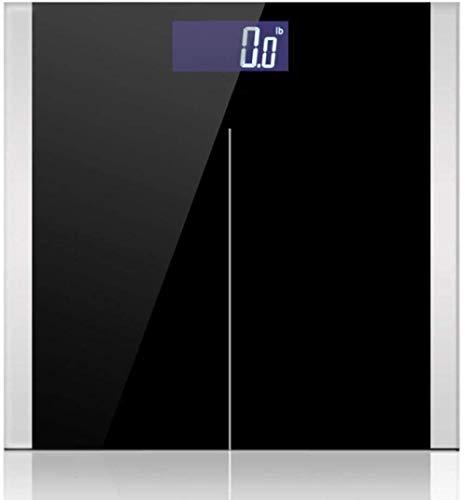 Personenwaage, Körperwaage, Körperwaage, genau, intelligent, elektronisch, digital, mit LCD-Display, 180 kg, Schwarz