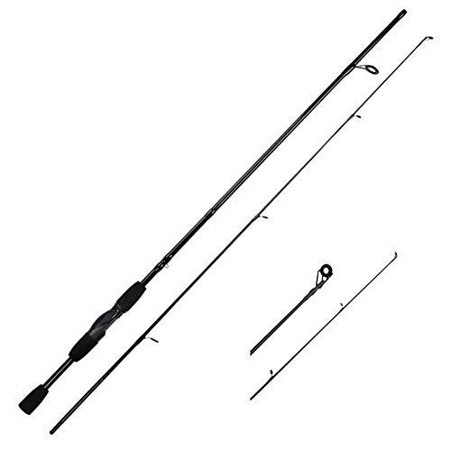LHSJYG cañas de Pescar,caña de Pescar 1.8M 2.1M de Giro Roces 4-21g señuelo Peso Mango de Fibra de Carbono señuelo Baitcasting Barra de Giro caña de Pescar (Color : A Spinning Rod, Size : 1.8 m)