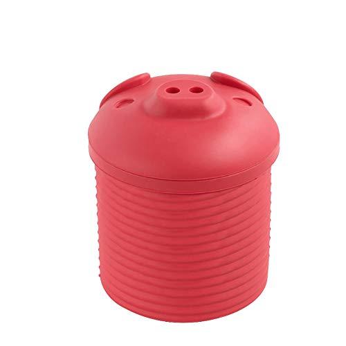 linjunddd 1pc Cartoon Piggy Design Speck Fett Leacher Silikon Speckfett Collector Lagercontainer Bin Speckfett Sieb Multifunktionale Küchenzubehör (pink)
