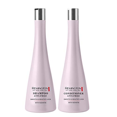 Remington Shampoo Anti-Frizz 250 ml Duo-Pack – mit Keratin – Seidig-weiches, gesundes Haar
