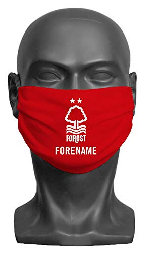 Personalised Nottingham Forest FC Crest Adult Face Mask- Large