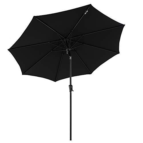 COBANA Patio Umbrella Outdoor Aluminum Table Umbrella of 9-Feet with 8...