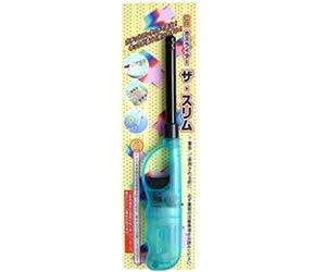 ガスライター ザ・スリム 色:おまかせ 12本セット☆チャッカマン形式ショート 充填式 CR着火ライター(火おこしグッズ) お得なセットでご提供