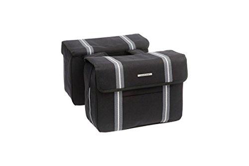 New Looxs Bolzano Double bagagedragertas, zwart, 36 x 26 x 15 cm