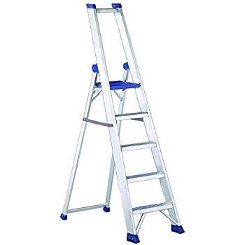 Escalera de aluminio con tijeras multiusos profesional robusta y resistente Svelt Regina 5 peldaños: Amazon.es: Bricolaje y herramientas