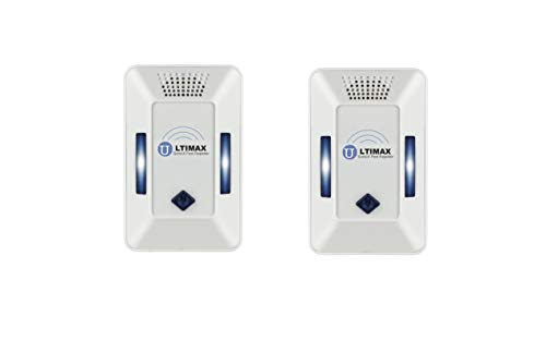 Ultimax Pest Repeller Fast Active | Wall Plug-in I Most Effective Electromagnetic & Ionic Indoor Anti Mouse, Ant, Mosquito, Cockroach Control - Safe & Quiet Device, Night Light | 2 Pack