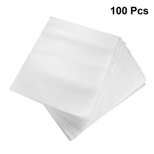 NUOBESTY 100pcs Cushion Foam Pouches Shockproof Foam Wrap Pouches Cushioning for Dishes Glasses Packing Moving Shipping and Storage (25x20cm)