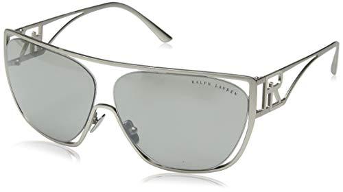 Ralph Lauren 0RL7063 Gafas de sol, Matte Silver, 64 para Mujer