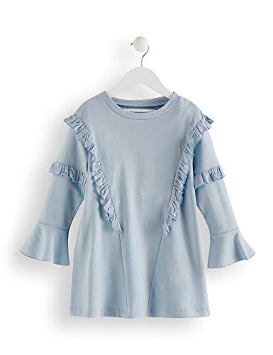 Amazon-Marke: RED WAGON Mädchen Kleid mit Rüschen, Blau (Lt Blue), 146, Label:11 Years