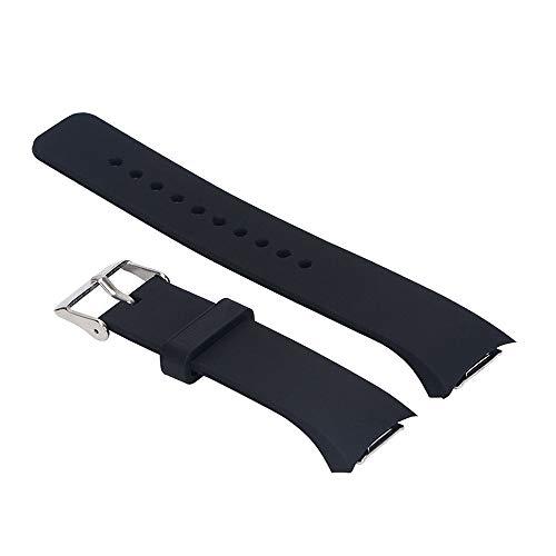 Correa de silicona de repuesto Yefod para Samsung Gear S2 SM-R720/SM-R730; no es compatible con Gear S2 Classic/Gear Fit 2., color negro