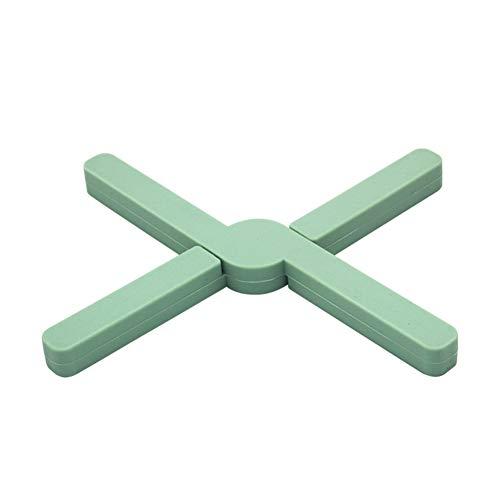 Salvamanteles de silicona multiusos Plegable,de alta calidad, aislante, flexible, duradero, antideslizante, con almohadillas calientes y posavasos Cross