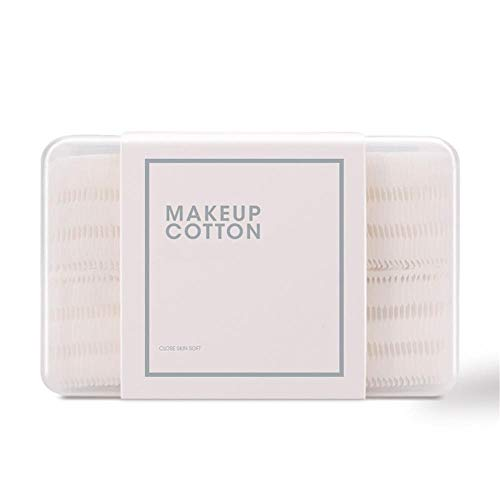 Tampon en coton-120 pièces de Tissu Non-tissé épaissi en boîte de démaquillant Outils de beauté en Coton