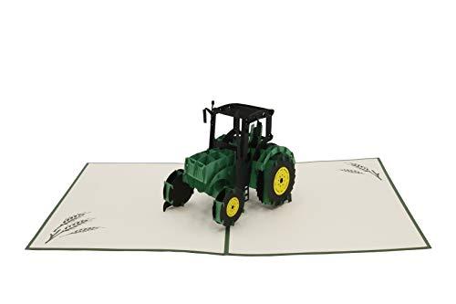 Tractor, trekker, sleepper, boerderij, boerderij, 3-d vouwkaart, pop-up kaart, wenskaart, wenskaart, cadeaukaart